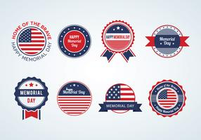 Memorial Day Badges Vector