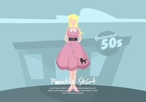 Poodle Skirt Illustration