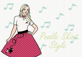 50s Poodle Skirt Vector Background
