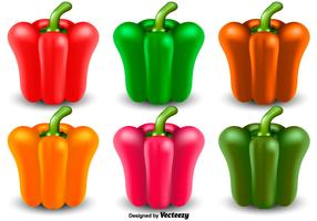 Vector Set Of Pepper Icon