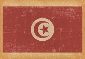 Old Grunge Flag of Tunisia