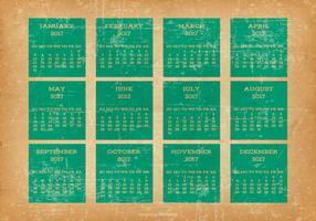 Old Grunge Style 2017 Desktop Calendar