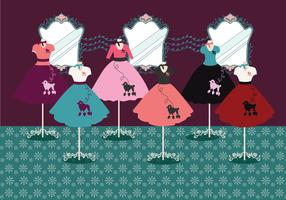 Poodle Skirt Vector