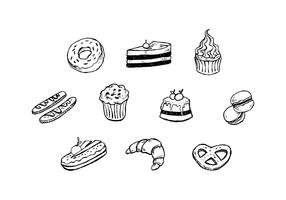 Free Dessert Hand Drawn Icon Vector