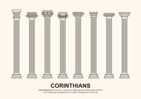Corinthian Columns Vector
