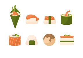 Free Sushi Vector Collection