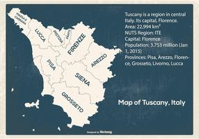 Grunge Map of Tuscany Italy