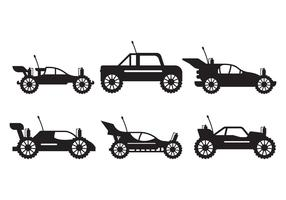 Rc Car silhouette set