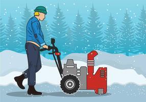 Snow blower vector illustration