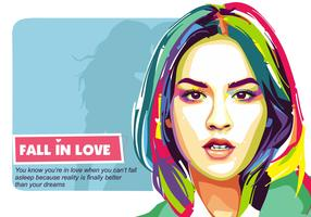 Fall in Love Vector Popart Portrait