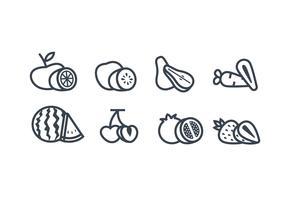 Fruits vector icon