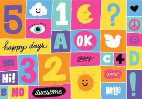 Bloque de color divertido Bloquear iconos de Word e Imagen