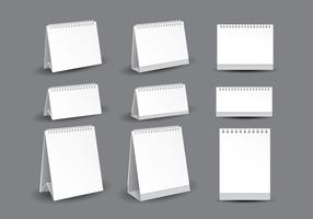Blank Desktop Calendar Template Vectors