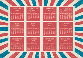 Patriotic Style Grunge 2017 Calendar