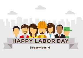 Free Happy Labor Day  Vector