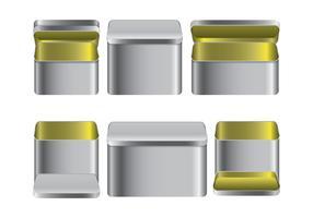 Tin Box Vector Pack