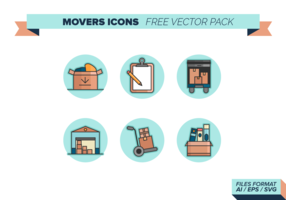 Movers Icons Free Vector Pack