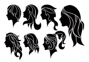 Woman vector set