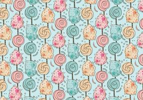 Sweet Pattern Candy Floss Vector