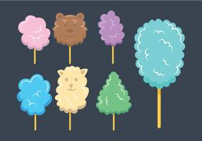 Candy floss vector set