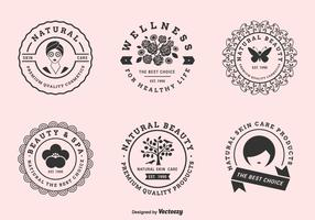 Vector Label Set For Beauty Clinics