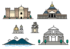 Napoli Landmark Icon Vector
