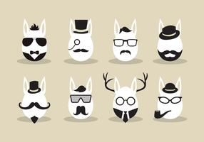 Hipster Easter Egg Vector
