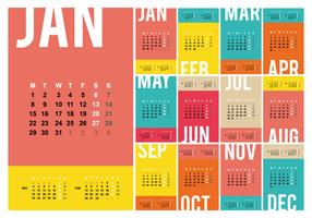 Free Desktop Calendar 2018 Template Illustration