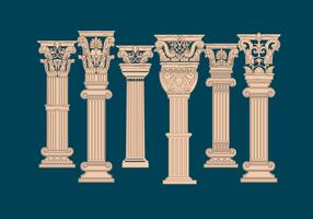 Corinthian Pillar Vector