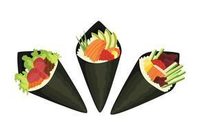 Temaki Sushi Variations