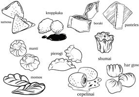 Free International Dumpling Vectors