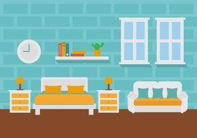 Free Room Decoration Vector Illustration