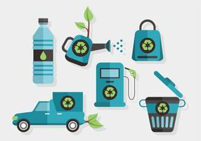 Biodegradable and Recyclable Vector Set