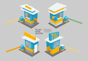 Toll Gate Vector Collection