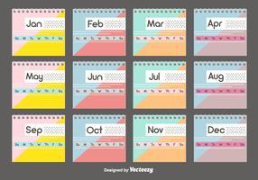 Desktop Calendar Template Set