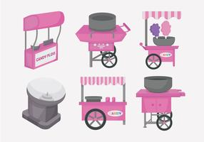 Candy Floss Cart Vector Illustration