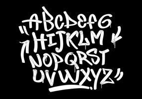 Graffiti marker tags style