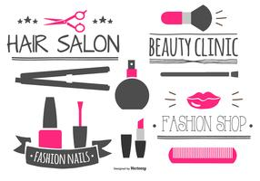 Beauty Labels and Elements Collection