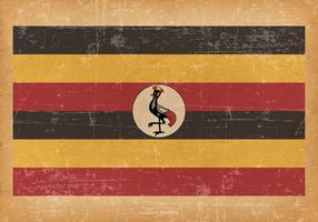 Old Grunge flag of Uganda
