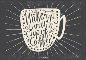 Typogarphic Coffee Illustration