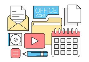 Free Linear Office Icons in Minimal Style