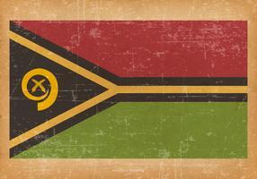 Old Grunge Flag of Vanuatu