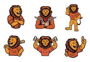 Free Lion Logo Vector Set