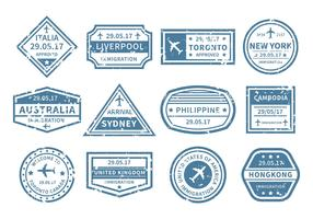 Free Travel Around World Stamp Vector