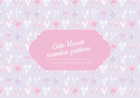 Vector Cute Hearts Seamless Pattern