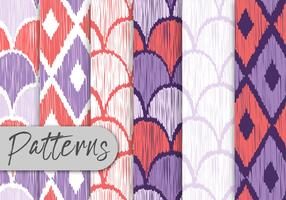 Colorful Hand Drawn Pattern Set