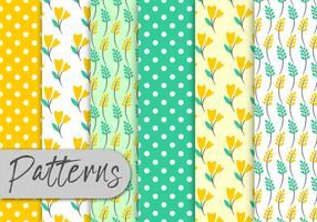 Yellow Mint Floral Pattern Set