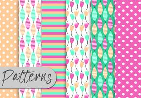 Cute Colorful Nature Pattern Set