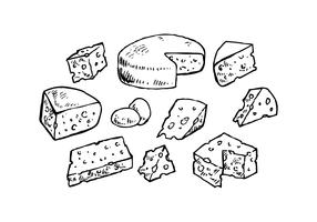 Cheese Collection for Charcuterie Board Vector