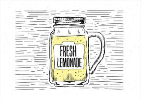 Free Hand Drawn Vector Lemonade Illustration
